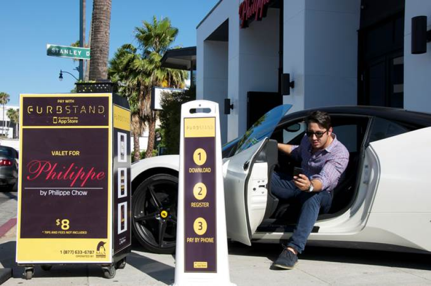 Curbstand, an app to find and pay for valet parking, is available at about 300 locations spread across a handful of cities in the U.S., including Los Angeles.