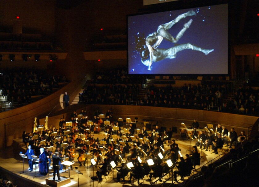 """""""The Tristan Project"""" performed by Esa-Pekka Salonen with the L.A. Philharmonic in Walt Disney Concert Hall."""