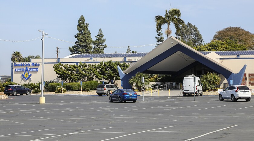 The landmark Scottish Rite Event Center in Mission Valley would become new locale for Home Depot under a proposal.