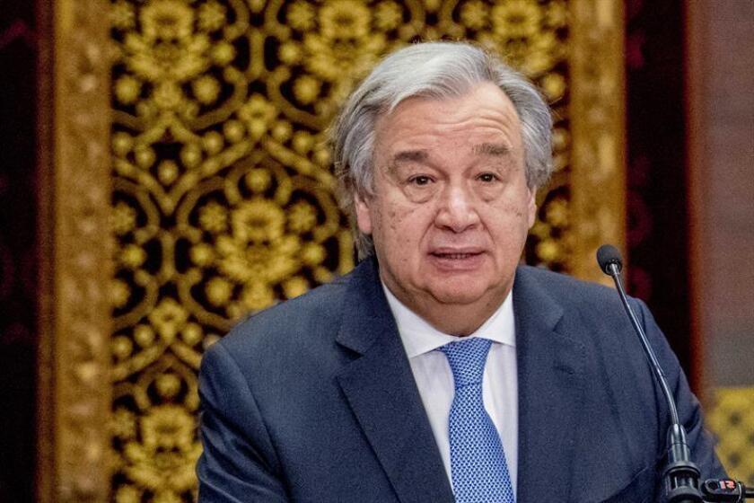 El secretario general de la ONU, António Guterres, ofrece un discurso. EFE/Archivo