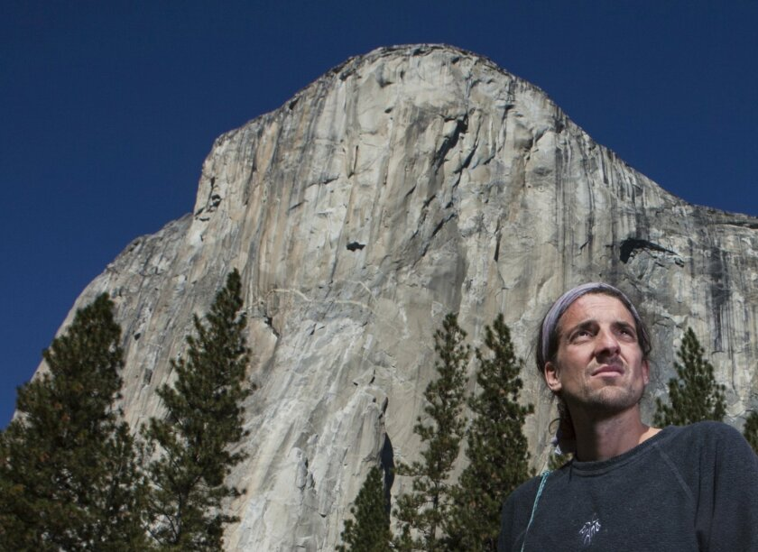 On May 17, rock climber Dean Potter died while BASE-jumping at Yosemite National Park. Here, Potter stands in front of Yosemite's El Capitan in 2010.