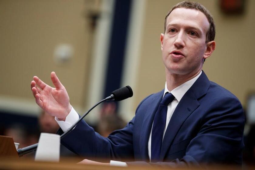 El fundador y presidente ejecutivo de Facebook, Mark Zuckerberg. EFE/Archivo