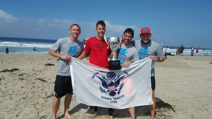 At last year's 100 Wave Challenge, the U.S. Coast Guard, Sector San Diego team grabbed hold of the inaugural First Responders Cup. Their fundraising haul topped out at $8,178.89, narrowly edging out the San Diego Fire Department Surf Club's $6,622.56.