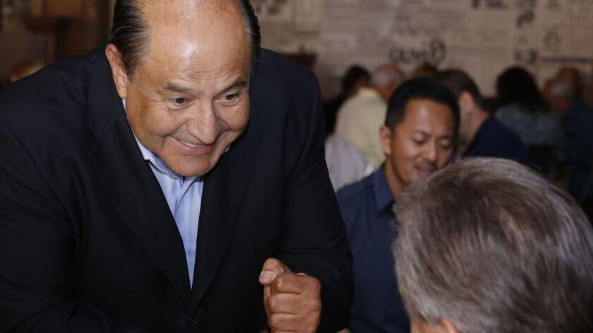 LOS ANGELES CA. OCTOBER 11, 2016: Lou Correa, Candidate for United States Representative, 46th Distr