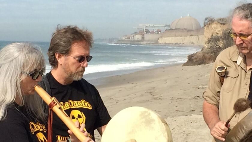 Activists use mindful methods to oppose storage of nuclear waste at the San Onofre Nuclear Generating Station.