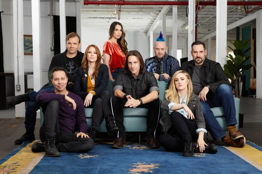"The cast of ""Critical Role,"" which has made its Dungeons & Dragons game play into an internet sensation: From left, Sam Riegel, Liam O'Brien, Marisha Ray, Laura Bailey, Matthew Mercer, Taliesin Jaffe, Ashley Johnson and Travis Willingham."