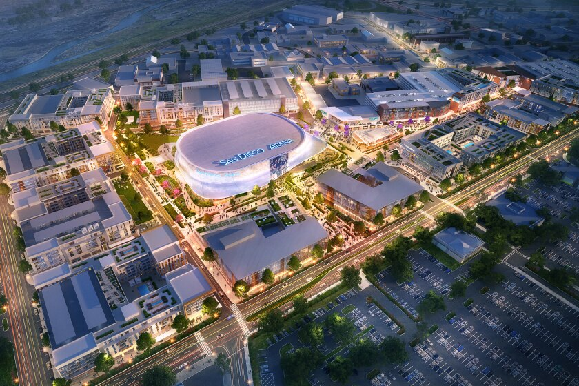 The Toll Brothers proposal includes a  $125 million renovation of the sports arena.