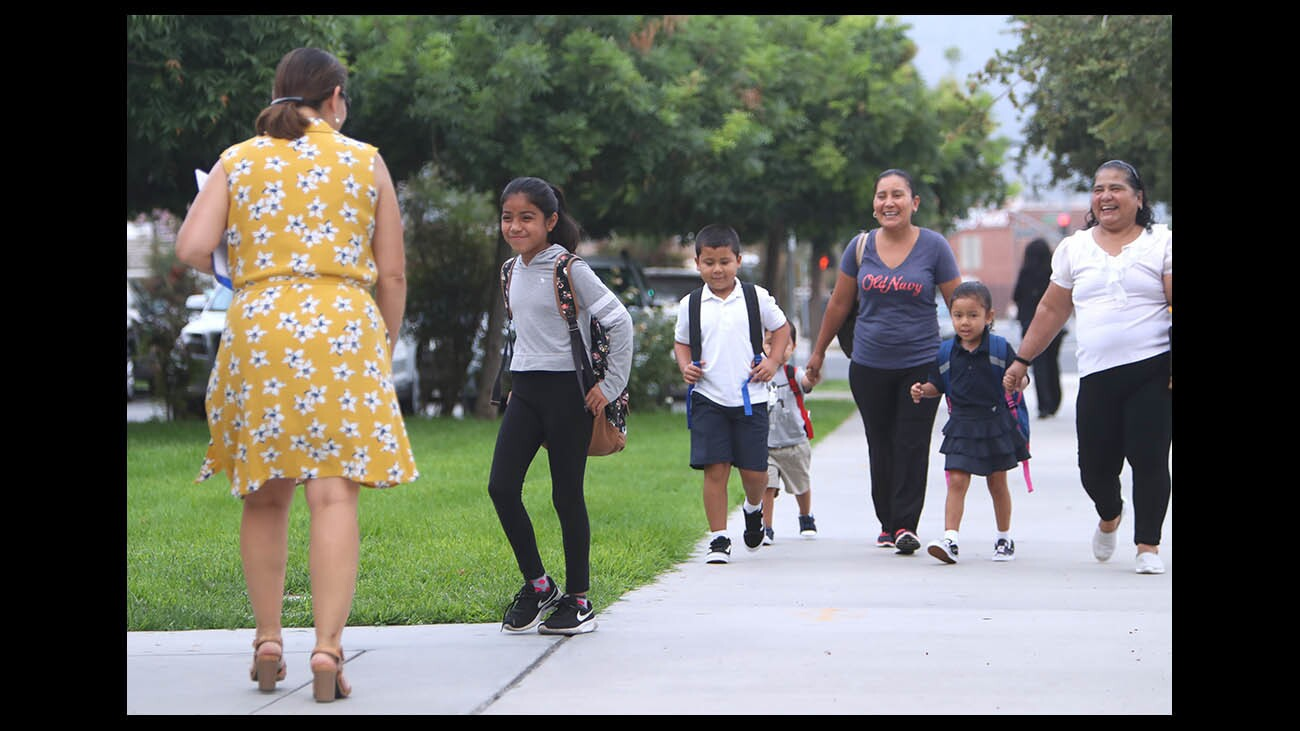 Photo Gallery: First day of classes at Cerritos Elementary School