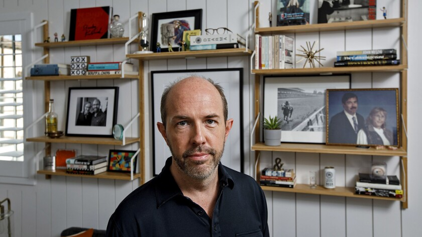 Eric Lange in the favorite room of his Sherman Oaks home.