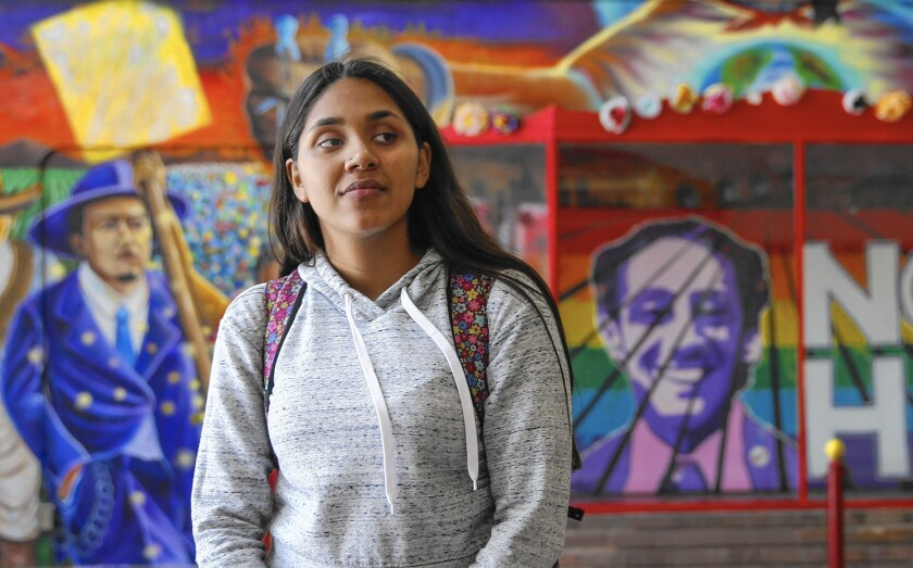 """Guadalupe Acevedo, a senior at Theodore Roosevelt Senior High School in Boyle Heights, was surprised to learn that her grades and credits qualified her only for community college. """"I was so lost. I didn't know how college worked."""""""