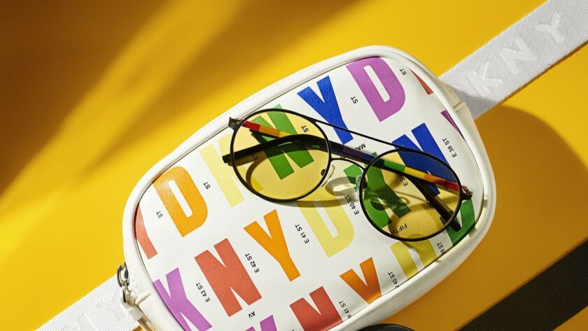 DKNY?s Pride capsule collection includes clothing, eyewear and accessories, such as this fanny pack.