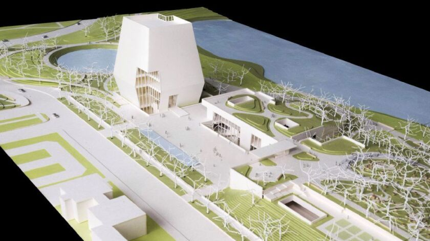 This conceptual drawing shows plans for the proposed Obama Presidential Center that will be located