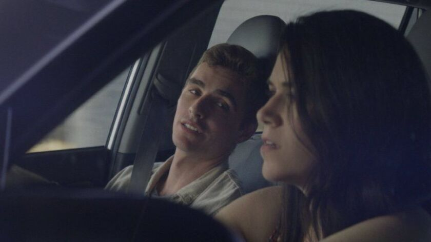 "Dave Franco and Abbi Jacobson in a scene from ""6 Balloons."""