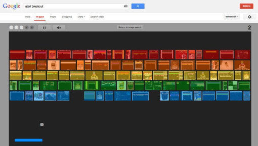 Type 'Atari Breakout' into Google image search for a nice surprise