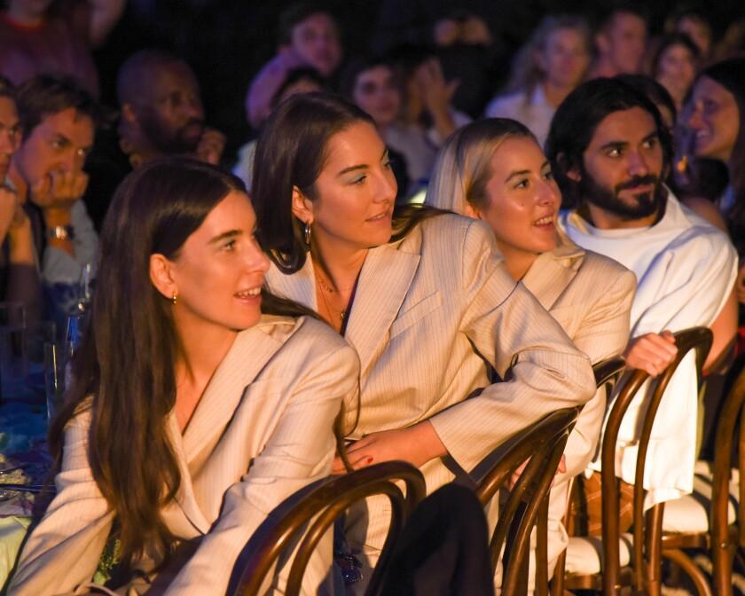 Danielle Haim, Este Haim and Alana Haim at the Ugg and Eckhaus Latta collaboration dinner.