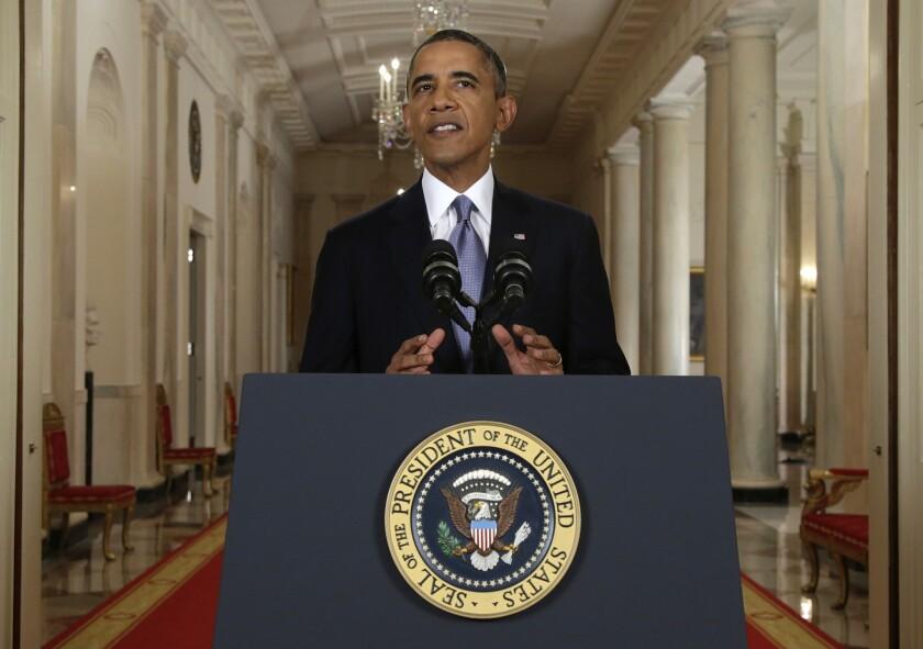 President Obama addresses the nation Tuesday on Syria.