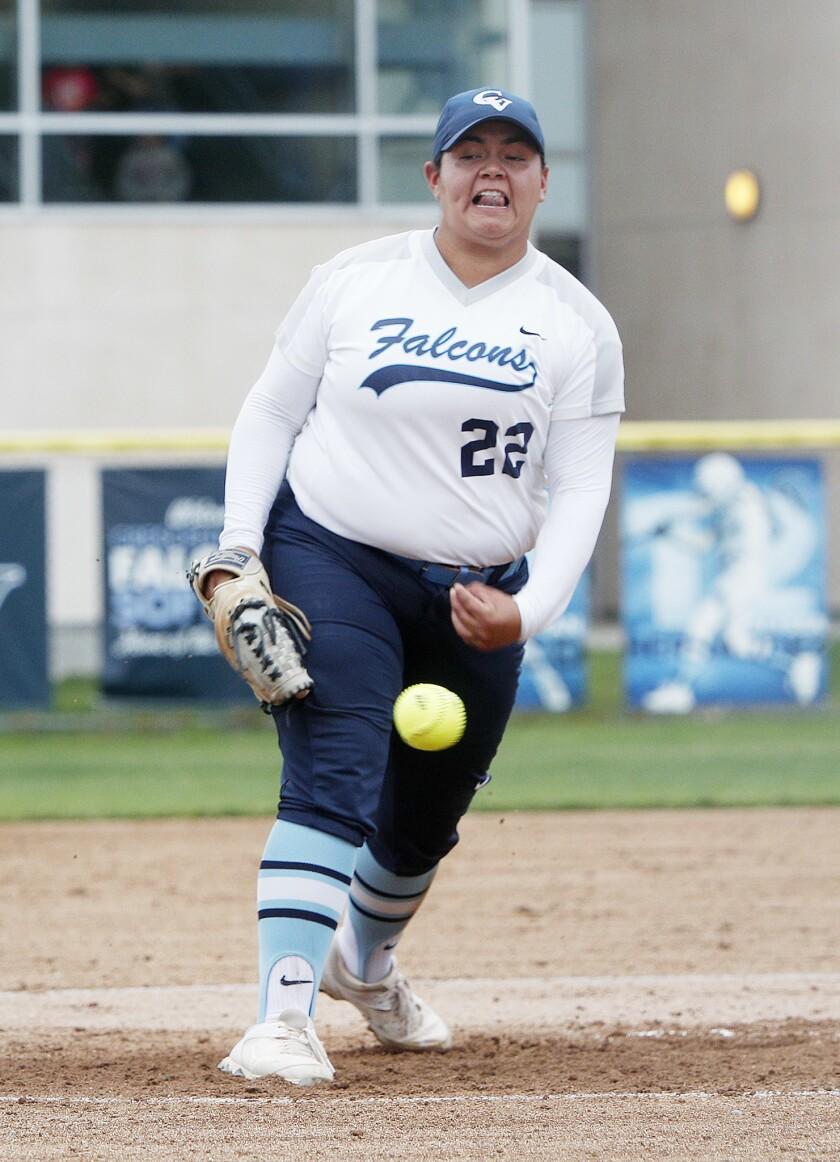 Crescenta Valley High sophomore softball pitcher Dee Dee Hernandez.