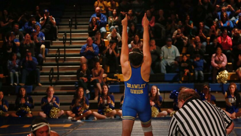 Brawley has won 17 straight San Diego Section wrestling titles.