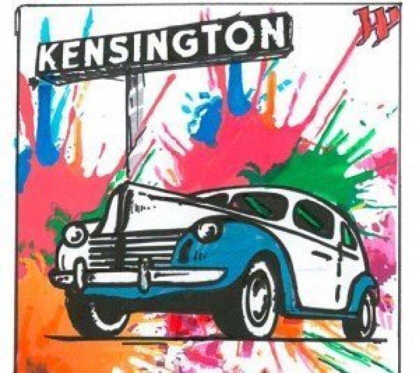 Makram's mural panel sketch proposal, this one focused on the Kensington neighborhood.