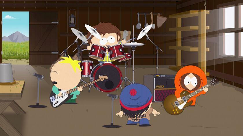 "A still from ""South Park's"" Oct. 2 episode, ""Band in China."""