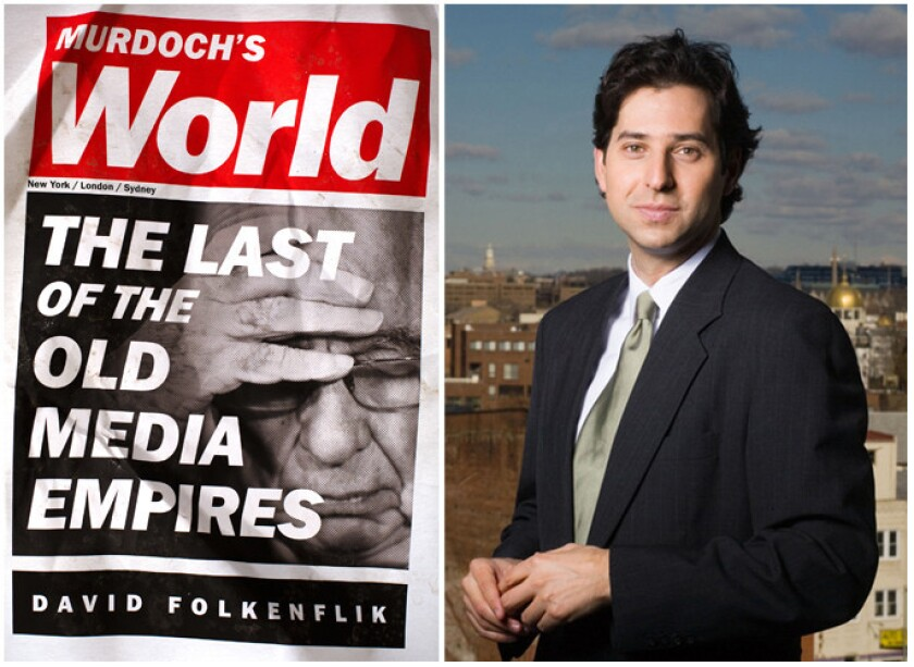 """The cover of """"Murdoch's World"""" and author David Folkenflik."""
