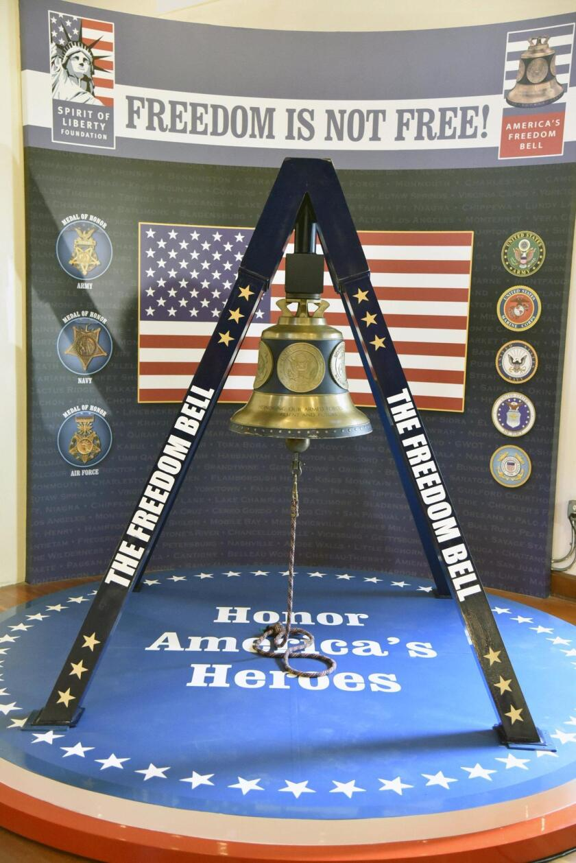 'America's Freedom Bell' rings in new home at the Veterans Museum at Balboa Park