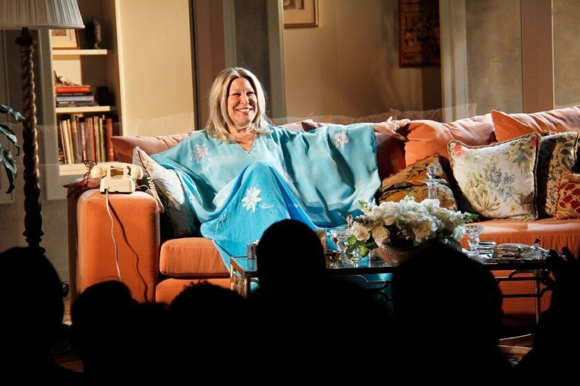 """Bette Midler in """"I'll Eat You Last: A Chat With Sue Mengers"""" on Broadway."""