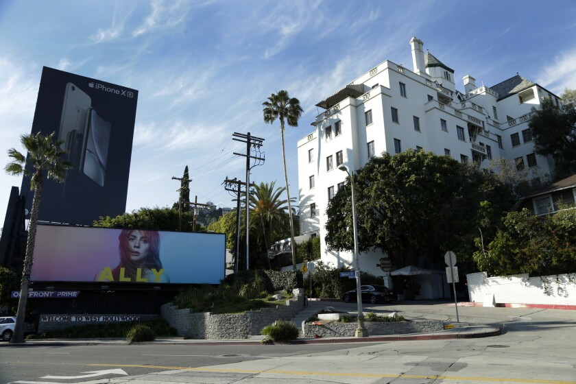 Chateau Marmont in West Hollywoood in February 2019