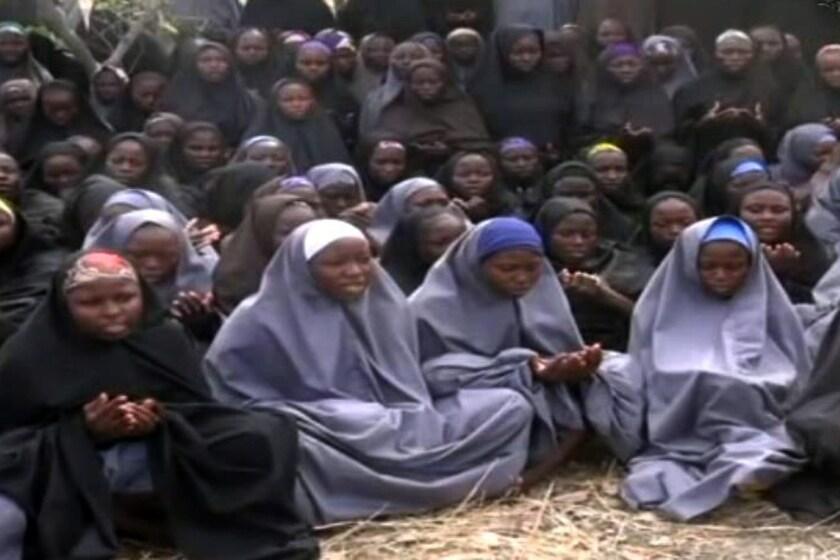 A video released on May 12, 2014, purports to show the hundreds of schoolgirls abducted in Nigeria by Boko Haram.