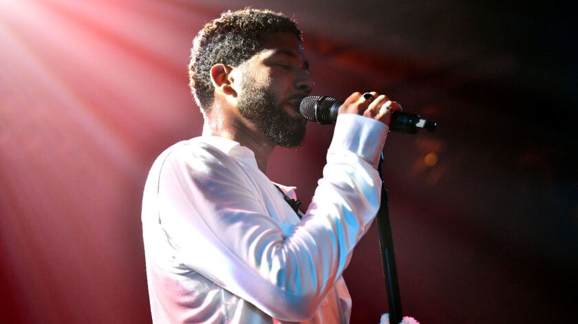 Jussie Smollett performs Saturday night at the Troubadour in West Hollywood.