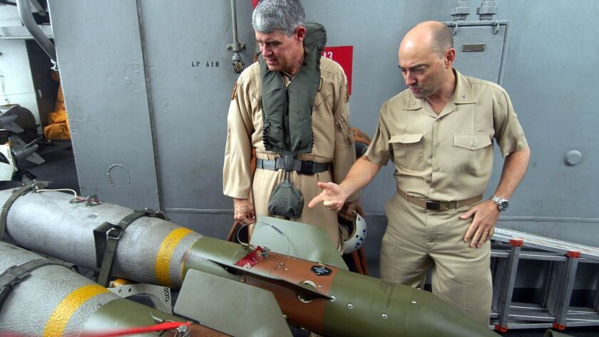 040106-N-9742R-003 Arabian Gulf (Jan. 6, 2004) Ð U.S. Air Force Lt. Gen. Lance L. Smith, Deputy Comm