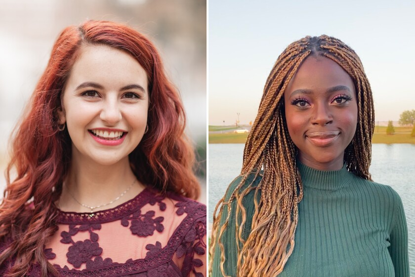 USC students Rose Ritch and Abeer Tijani