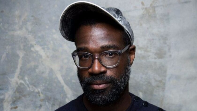 """Tunde Adebimpe at the Sundance Film Festival for """"Nasty Baby."""""""