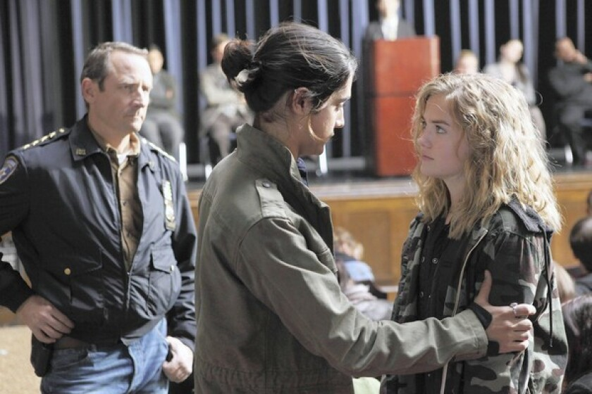 """Sam Robards, left, Avan Jogia and Maddie Hasson star in """"Twisted."""""""