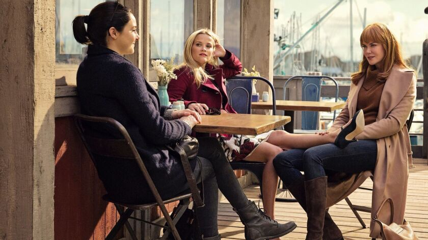 """A scene from the first episode of HBO's award-winning series """"Big Little Lies"""" featured actresses Shailene Woodley, Reese Witherspoon and Nicole Kidman."""
