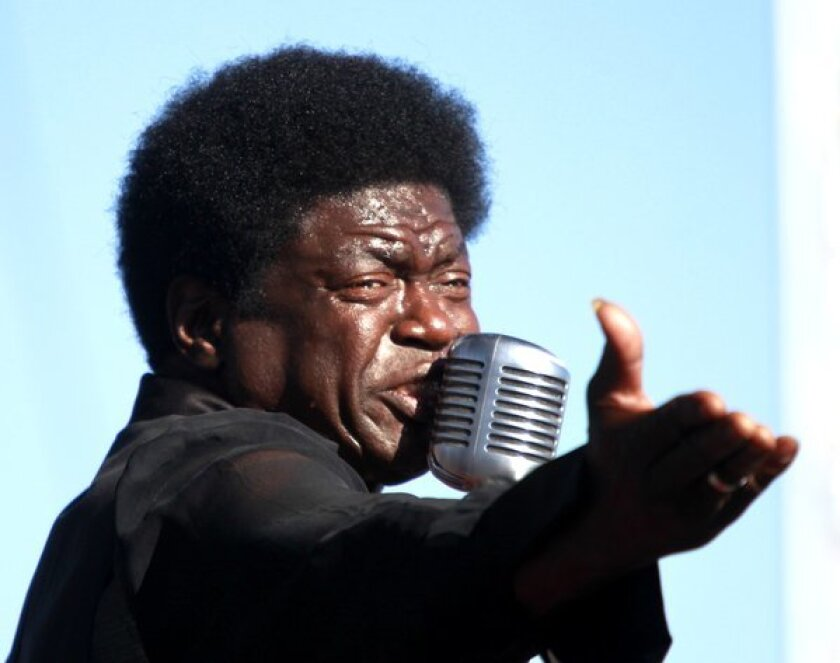 Charles Bradley performs during the first day of FYF Fest at Los Angeles State Historic Park.