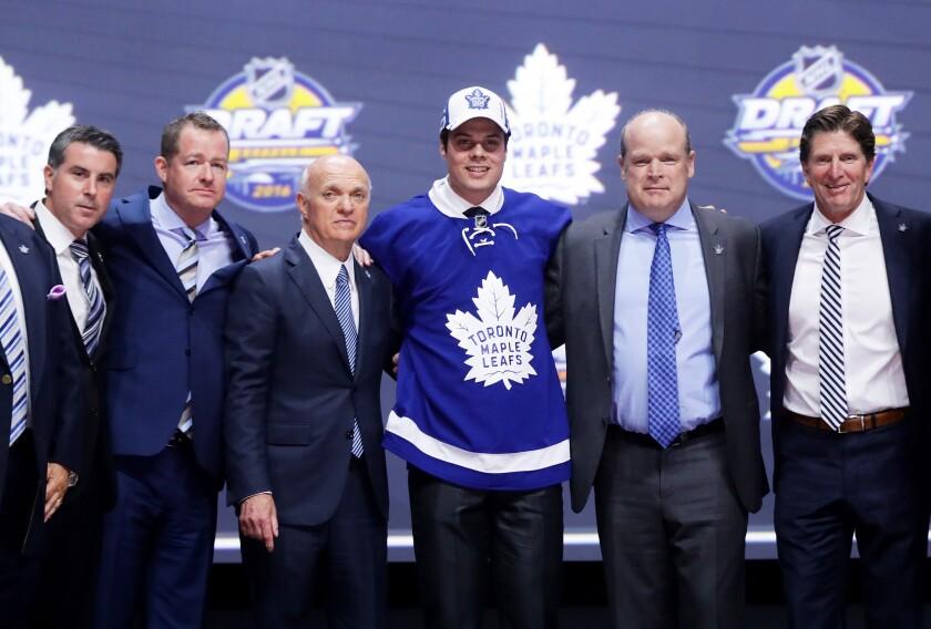 Auston Matthews chosen No. 1 in NHL entry draft
