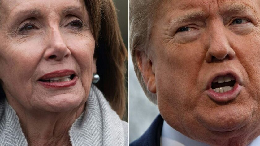 House Speaker Nancy Pelosi (D-San Francisco) and President Trump should stop their squabbling over the State of the Union address.