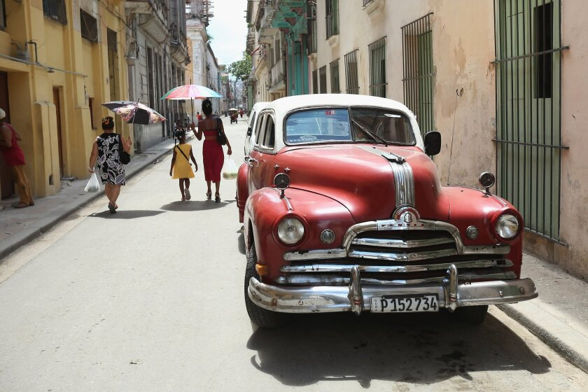 Visitors from Los Angeles will be able to visit Havana, pictured here, on direct charter flights beginning in December.