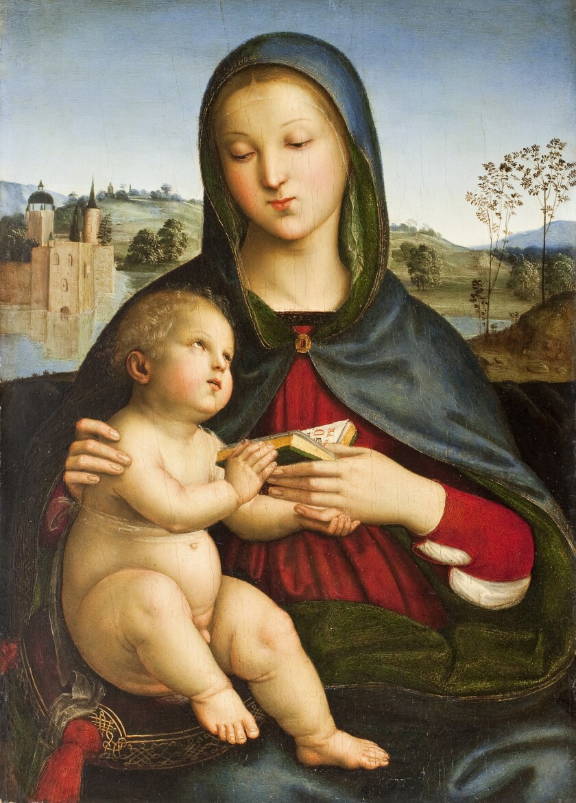Raphael (Raffaello Sanzio) (Italian, 1483–1520). Madonna and Child with Book, c. 1502–3. Oil on panel. Norton Simon Art Foundation