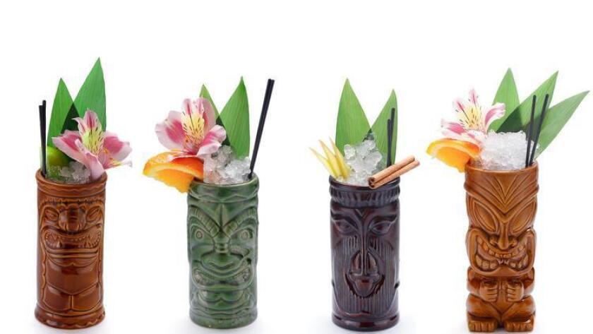 Tiki-style cocktail drinks