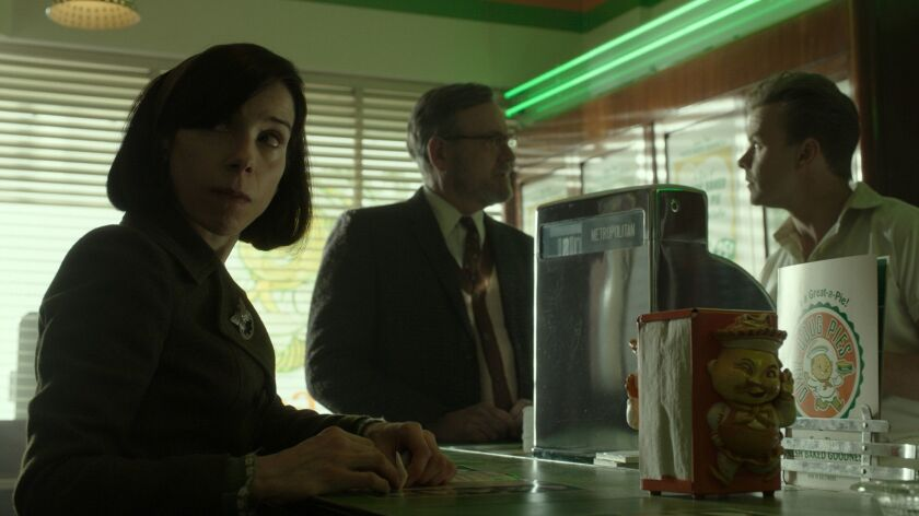 """Sally Hawkins and Richard Jenkins in the film """"THE SHAPE OF WATER."""""""
