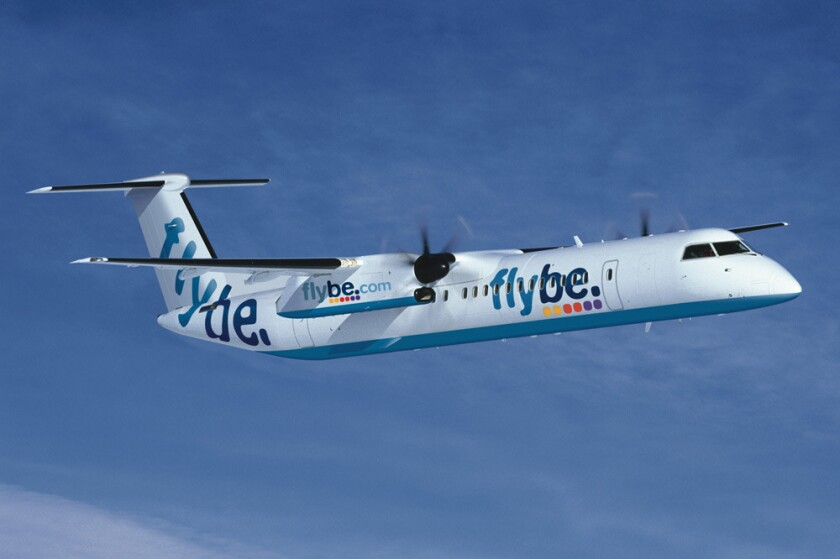 Flybe's network included more than half of British domestic flights outside London.