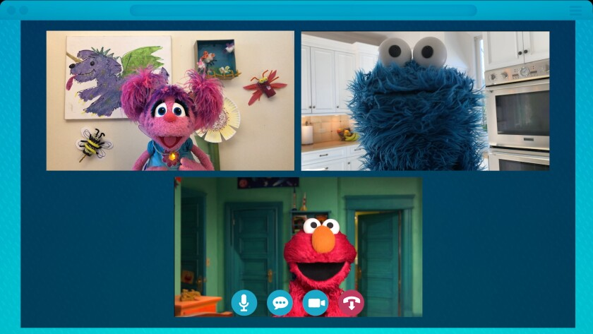 """Elmo, Cookie Monster and friends cope with social distancing in the new special """"Sesame Street: Elmo's Playdate."""""""