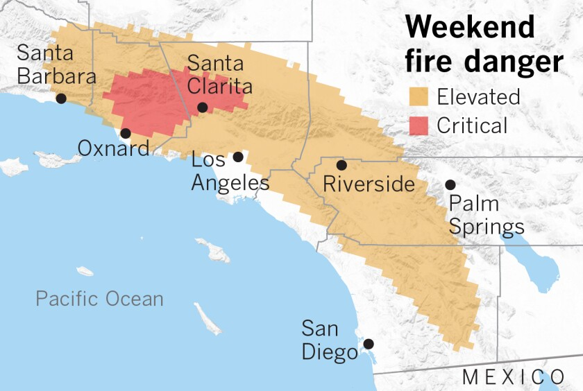 Fire danger map