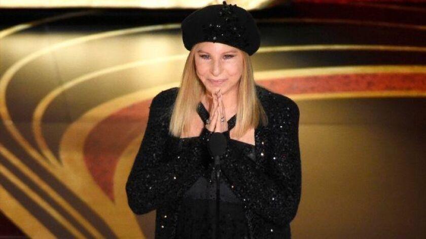 "Barbra Streisand introduces ""BlacKkKlansman"" at the Oscars on Feb. 24, 2019"