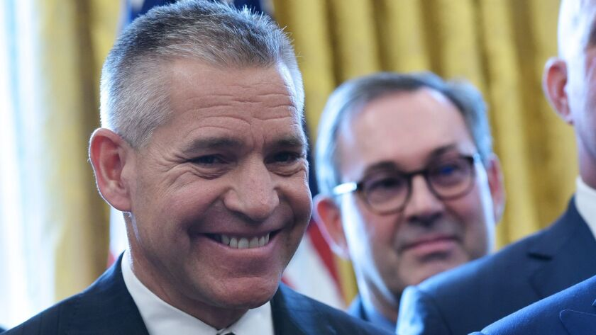 TransCanada Chief Executive Russ Girling at the White House last year.