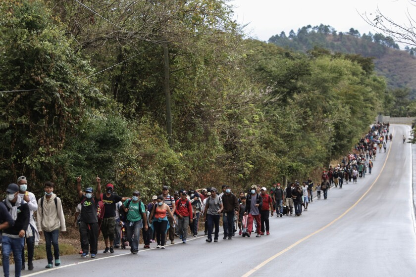 Migrants hoping to reach the U.S. border.