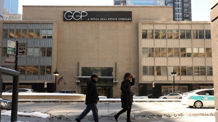 The real estate unit of Toronto-based Brookfield Asset Management Inc. will pay $9.25 billion for GGP, the companies said Monday in a statement.