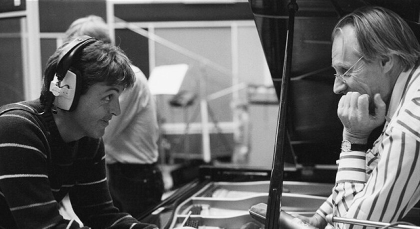George Martin and Paul McCartney